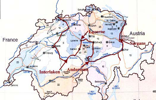The 37 Trains We Rode – Switzerland Travel Map